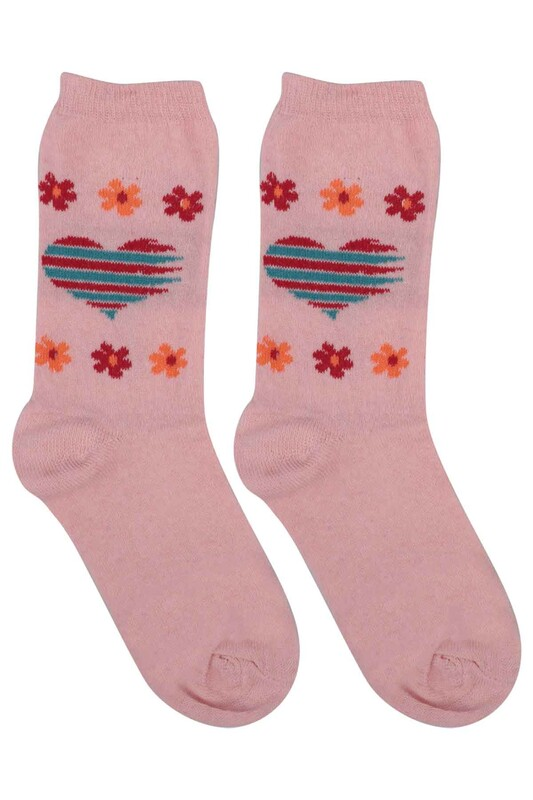 ÜÇ-EL - Kız Çocuk Çorap 53 | Pembe