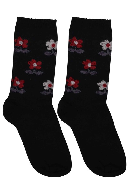 ÜÇ-EL - Kız Çocuk Çorap 55 | Siyah