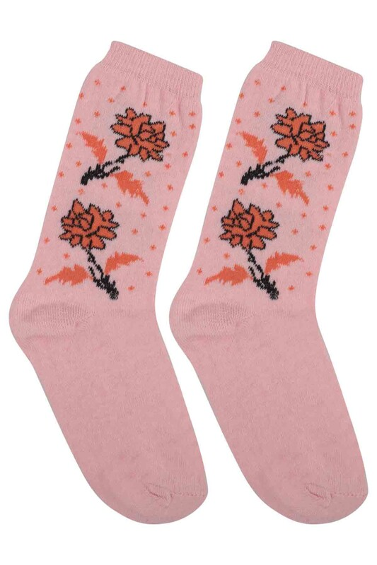 ÜÇ-EL - Kız Çocuk Çorap 56 | Pembe