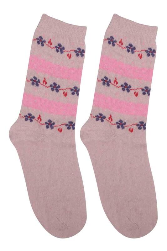 ÜÇ-EL - Kız Çocuk Çorap 57 | Krem