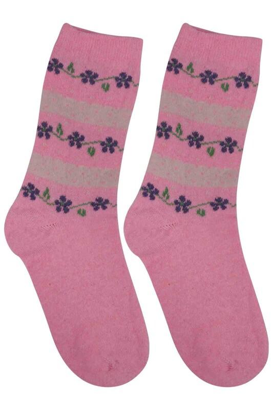 ÜÇ-EL - Kız Çocuk Çorap 57 | Pembe