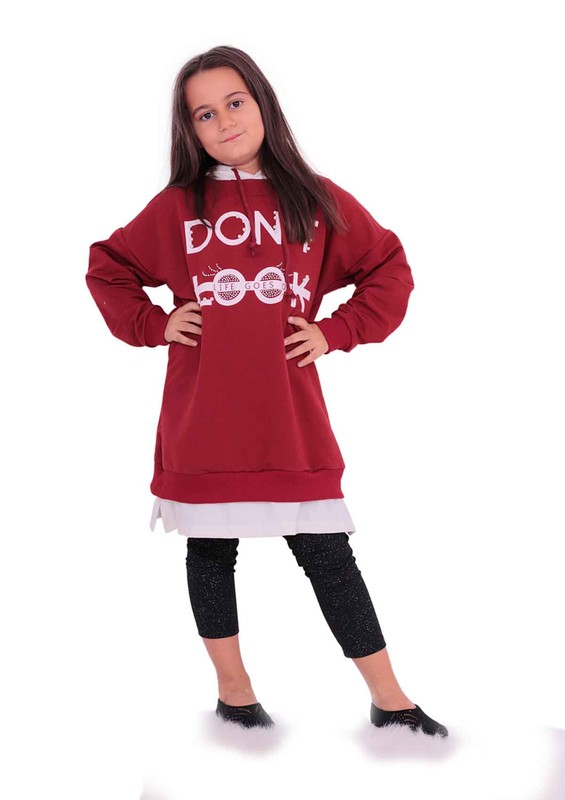 SİMİSSO - Simisso Çocuk Sweat 1155 | Bordo
