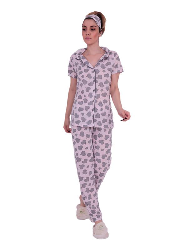SNC - Комплект пижамы SNC на пуговицах с сердечками 6077/розовый