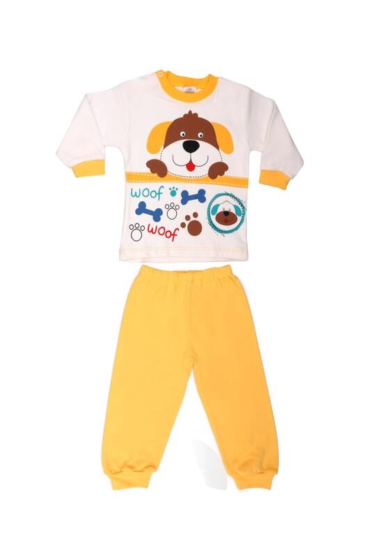 BİLKON - Комплект с принтом Bilkon Baby 2815/жёлтый