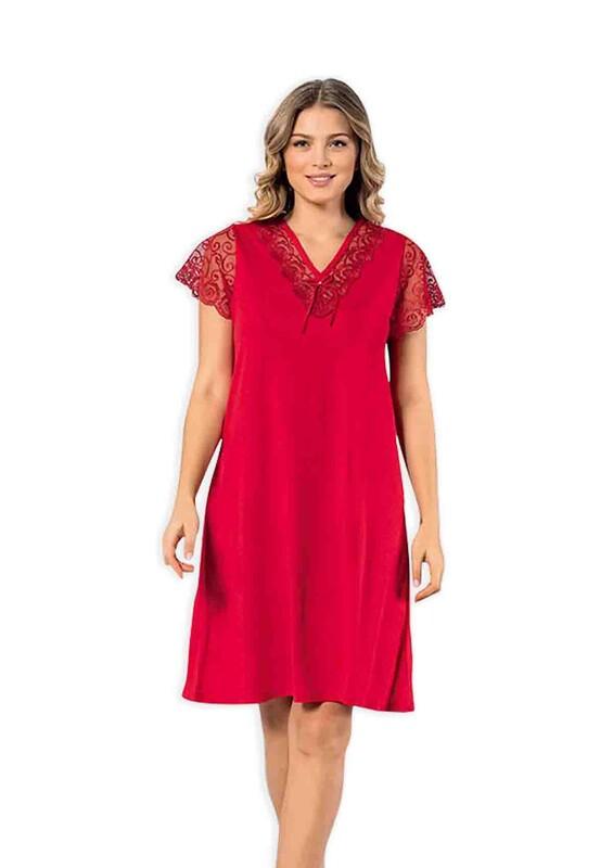 KOTA - Kota Dantelli Kadın Gecelik 6301 | Kırmızı