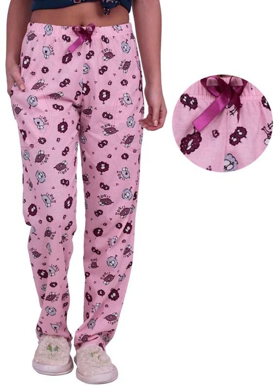 SİMİSSO - Kuzu Baskılı Kadın Pijama Altı | Pembe