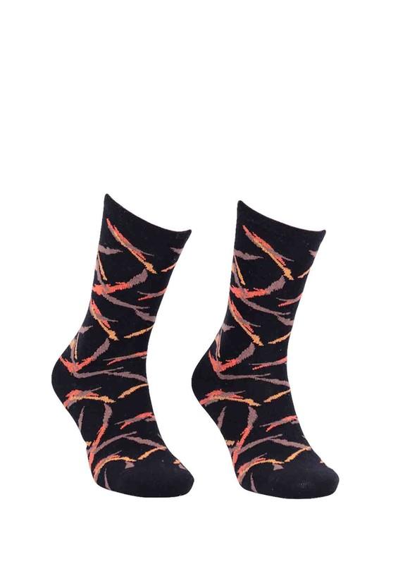 LA MORİA - La Moria Desenli Bambu Çorap 61613 | Siyah