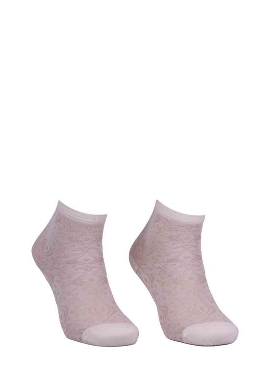 LA MORİA - La Moria Desenli Bambu Çorap 83422 | Krem