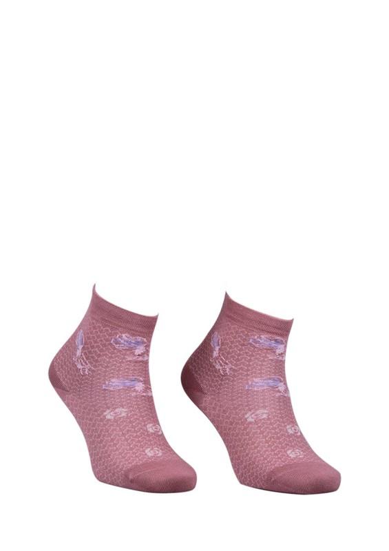 LA MORİA - La Moria Desenli Dikişsiz Çorap 82422-3 | Pudra