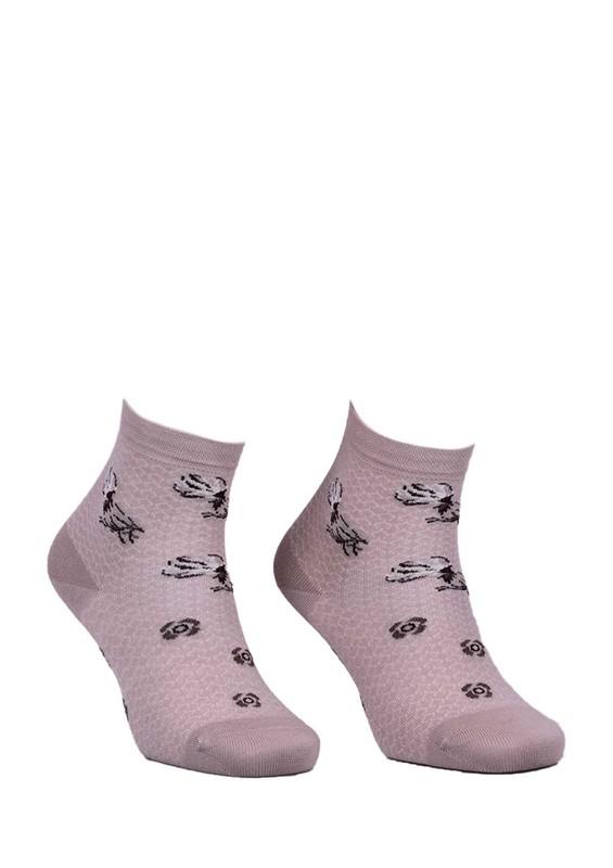 LA MORİA - La Moria Desenli Dikişsiz Çorap 82422-3 | Vizon