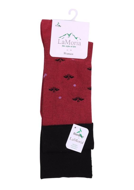 LA MORİA - La Moria Desenli Bambu Çorap 63614 | Fuşya