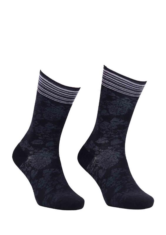 LA MORİA - La Moria Desenli Parfümlü Bambu Çorap 63612 | Siyah
