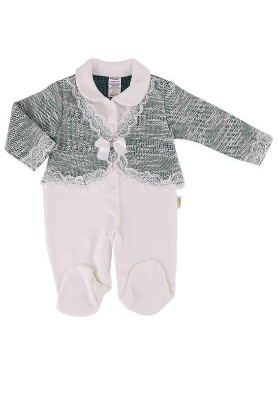 LİNDO - Lindo Bebek Tulumu 7076 | Yeşil
