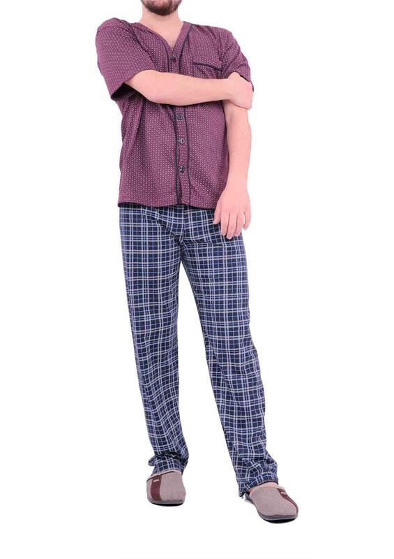 LİNDROS - Lindros Pijama Takımı 148   Bordo
