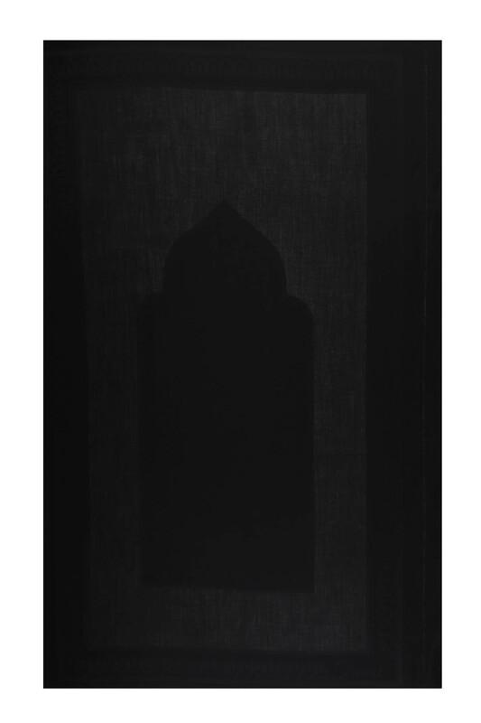 SİMİSSO - Linen Kumaş İşlemelik Hazır Seccade | Siyah