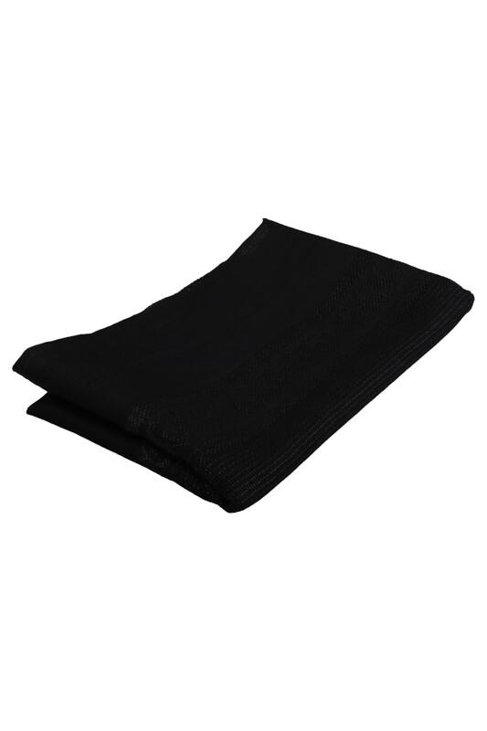 SİMİSSO - Linen Kumaş Simli İşlemelik Hazır Seccade | Siyah
