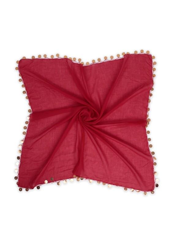 SİMİSSO - Liralı Keşan Yazma 90 cm | Kırmızı