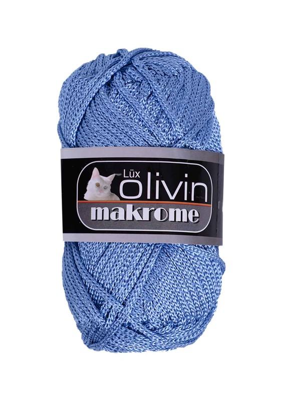 LÜX OLİVİN - Lüx Olivin Makrome İpi Mavi-34534