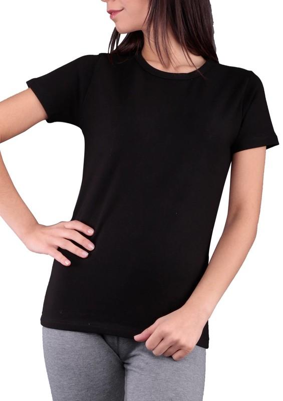 MARY LUX - Mary Lüx Termal T-Shirt 527 | Siyah