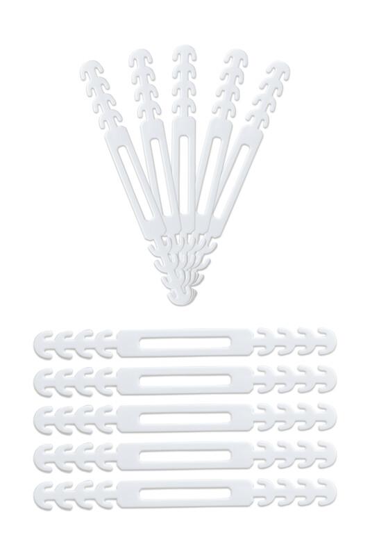 SİMİSSO - Maske Takma Aparatı 10'lu   Beyaz
