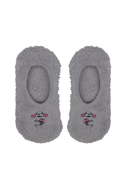 SAHAB - Maymun Nakışlı Welsoft Çocuk Patik Çorap 22666 | Gri
