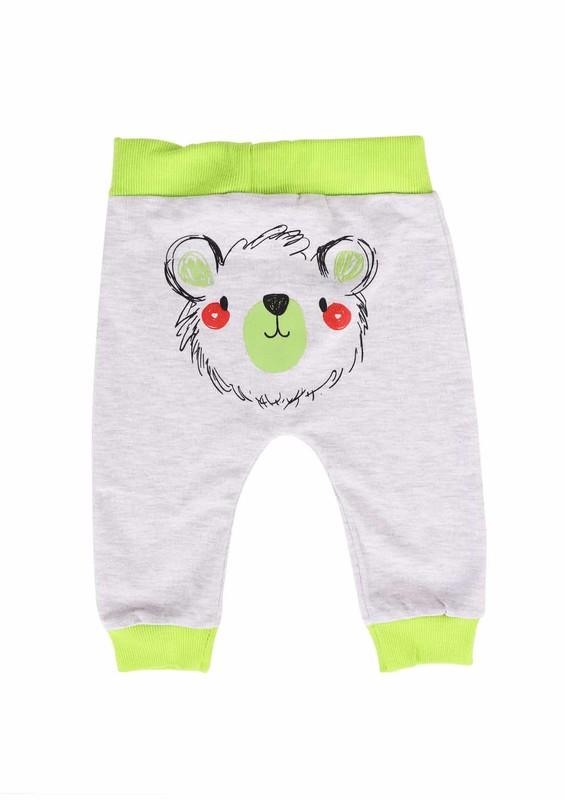 MİNİŞ - Miniş Bebek Pantolonu 1016   Yeşil Gri