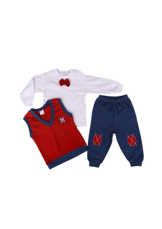 MİNİŞ - Miniş Bebek Takımı 1011 | Kırmızı