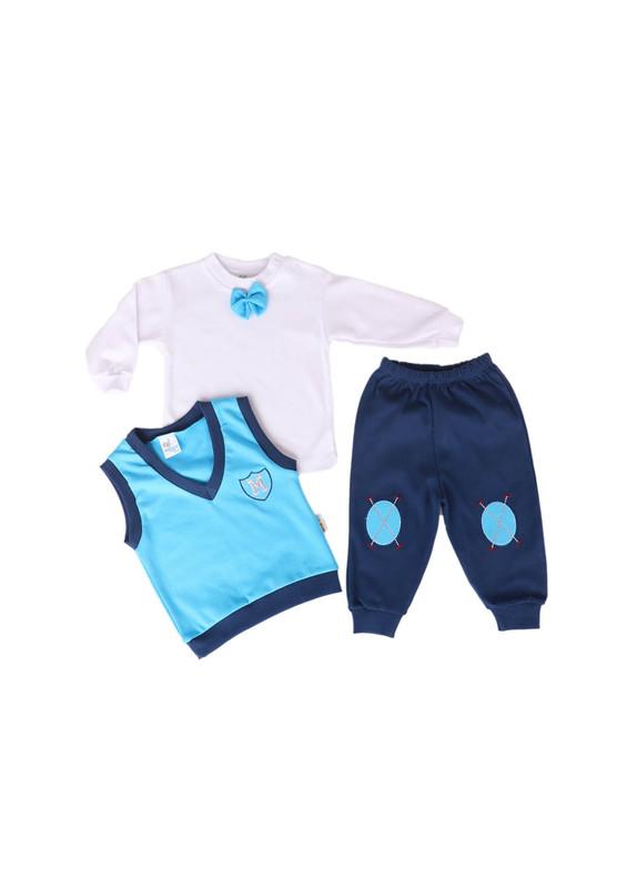 MİNİŞ - Miniş Bebek Takımı 1011 | Mavi