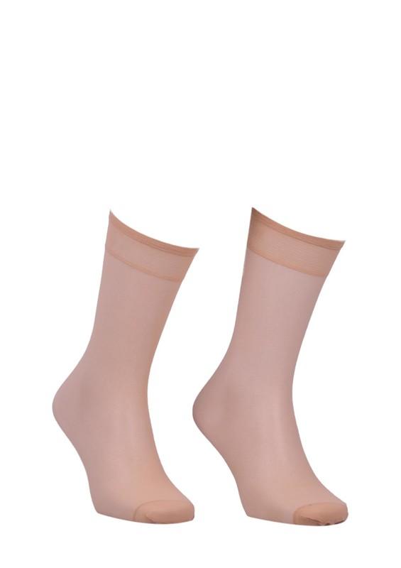 MÜJDE - Müjde Burnu Takviyeli Mat Dizaltı Çorap 004 | Sahra