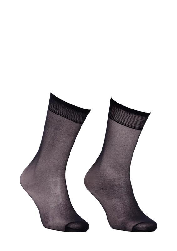 MÜJDE - Müjde Burnu Takviyeli Mat Dizaltı Çorap 004 | Siyah