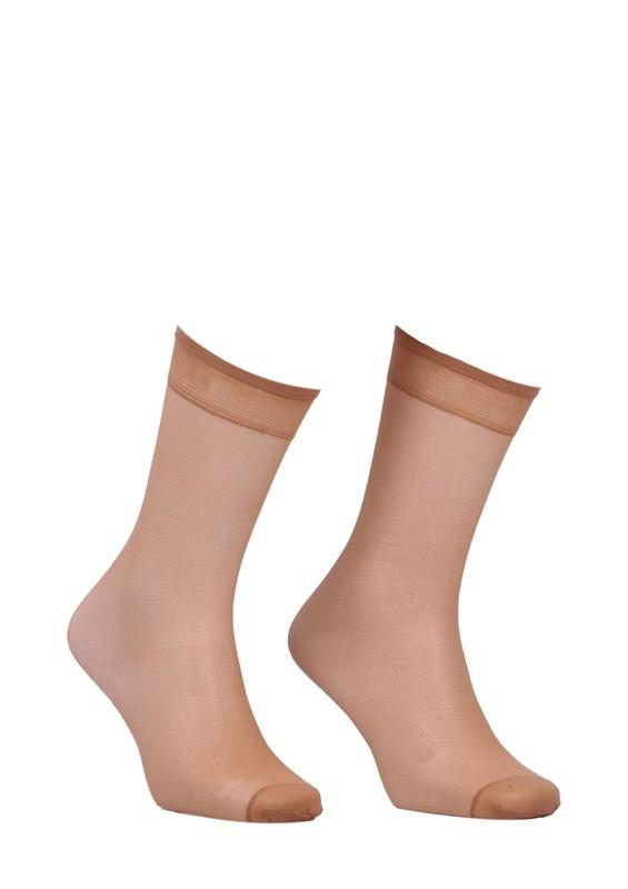 MÜJDE - Müjde Burnu Takviyeli Mat Dizaltı Çorap 004 | Ten