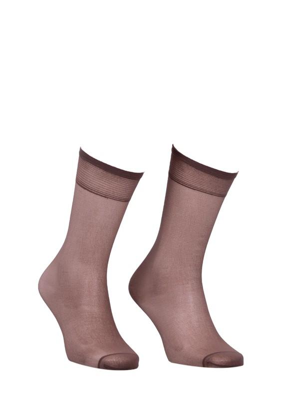 MÜJDE - Müjde Burnu Takviyeli Mat Dizaltı Çorap 004 | Vizon