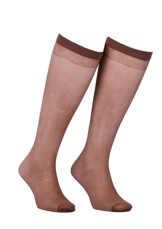 MÜJDE - Müjde Diz Üstü Çorap 006 | Bronz