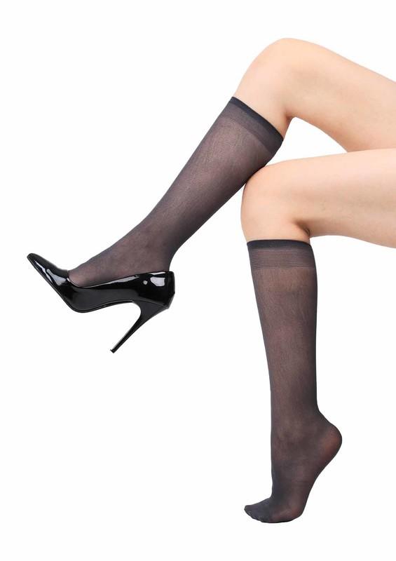 MÜJDE - Müjde Lastiği Rahat Dizaltı Çorap 016 | Füme