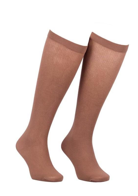 MÜJDE - Müjde Rahat Lastikli Mus Çorap Renk Seçenekli 013 | Bronz