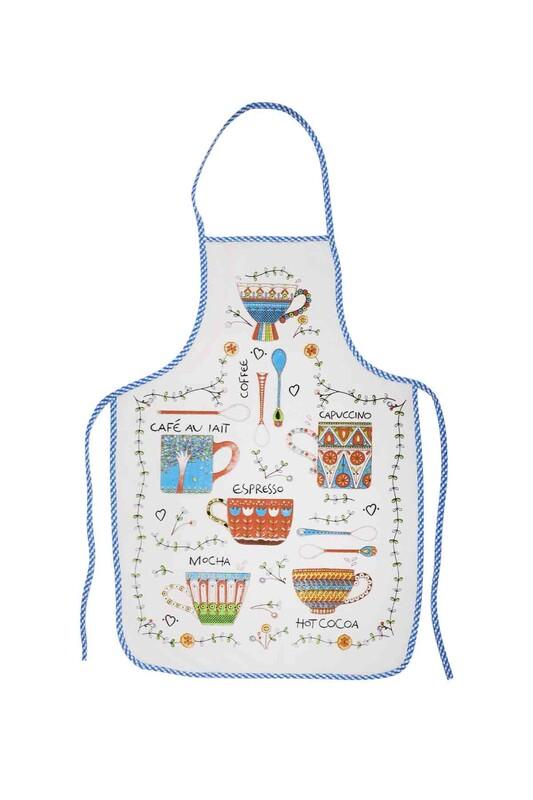 SİMİSSO - Baskılı Mutfak Önlüğü   Mavi