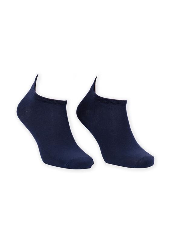 SİMİSSO - Nakış Desenli Kadın Soket Çorap | Lacivert