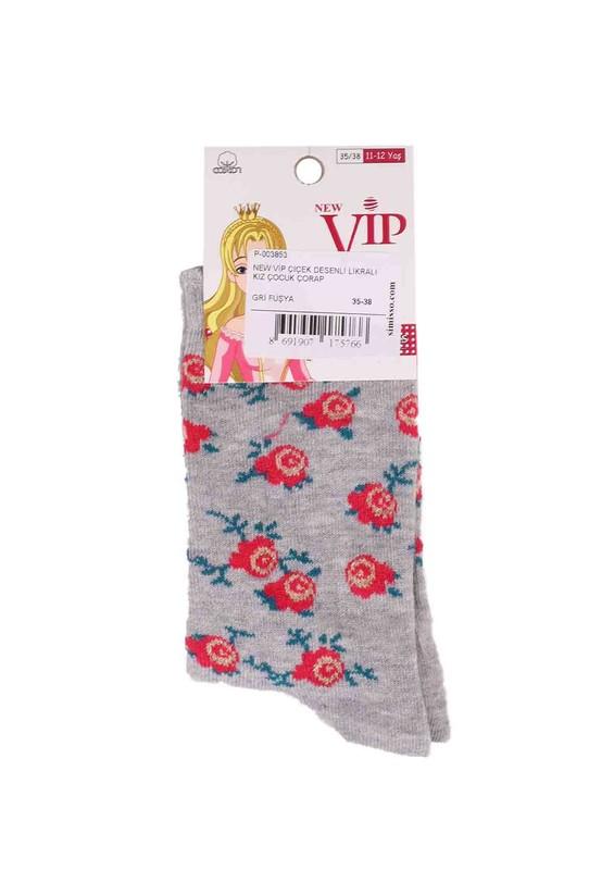 NEW - New Vip Likralı Çorap 935 | Gri