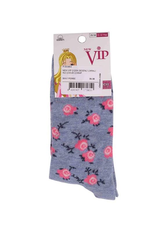 NEW - New Vip Likralı Çorap 935 | Mavi