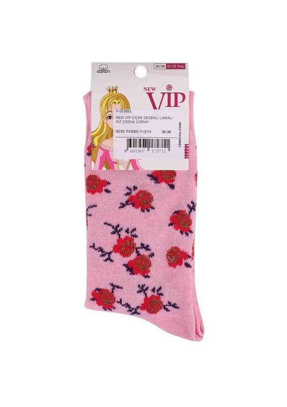 NEW - New Vip Likralı Çorap 935 | Pembe