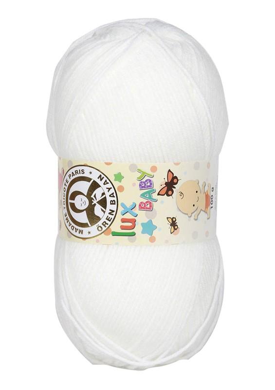 ÖREN BAYAN - Ören Bayan Lux Baby El Örgü İpi Kemik Beyaz 111