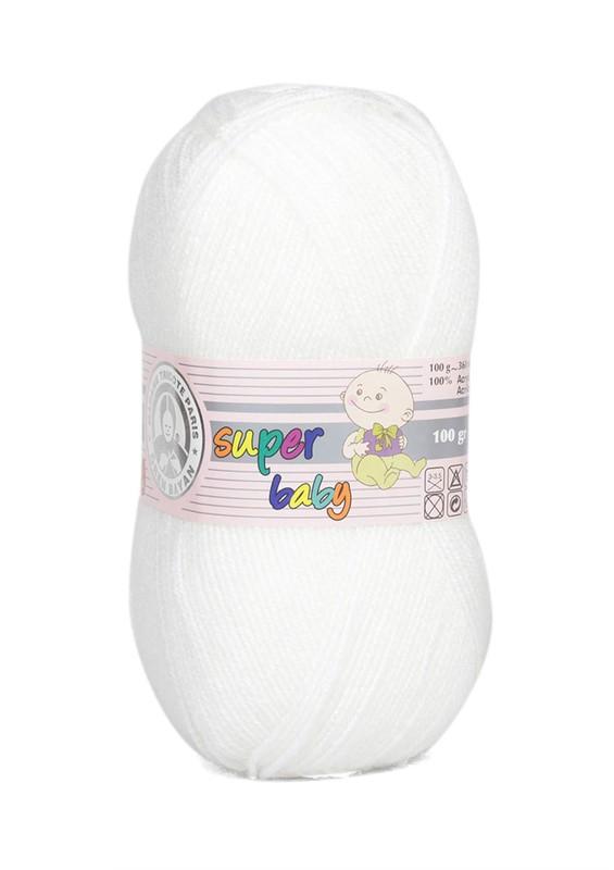 ÖREN BAYAN - Ören Bayan Süper Baby El Örgü İpi Beyaz 100