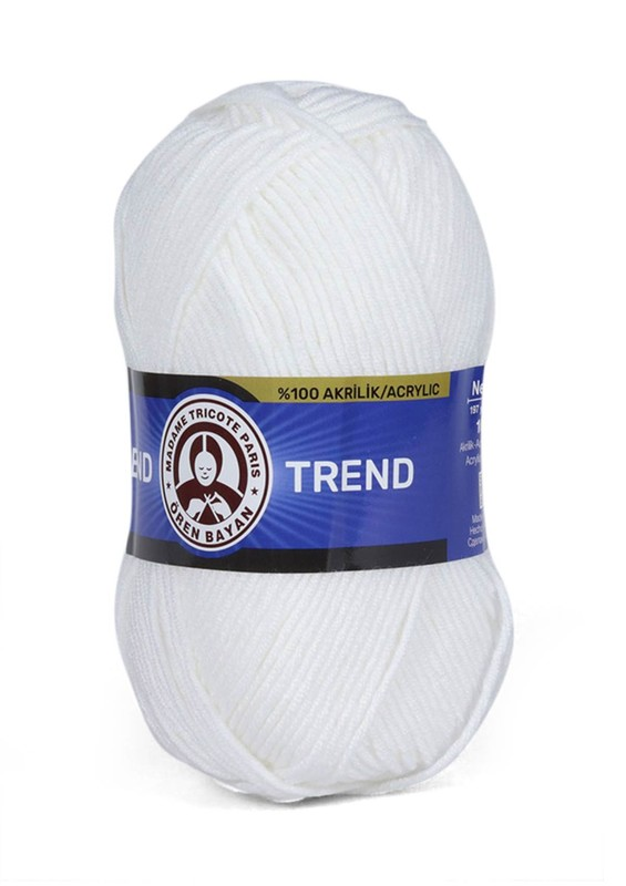 ÖREN BAYAN - Ören Bayan Trend El Örgü İpi Beyaz 100