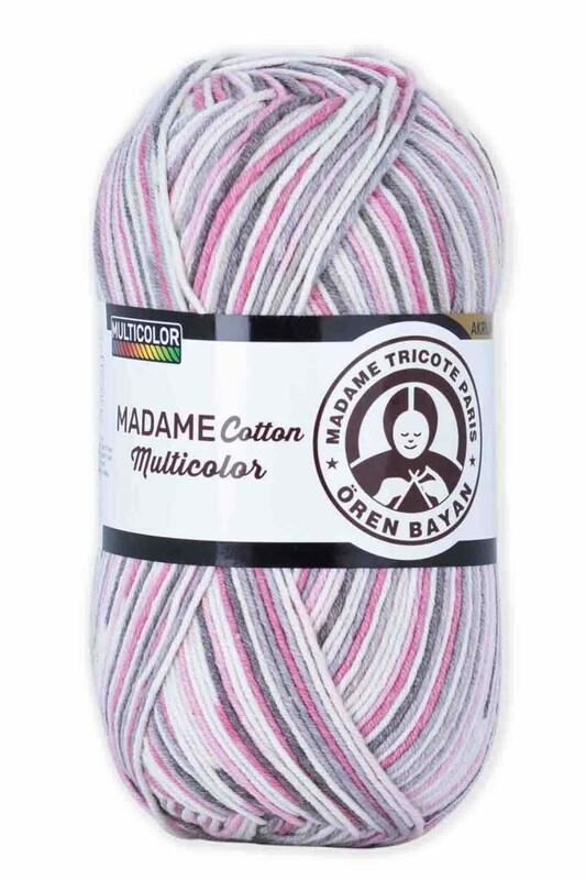 ÖREN BAYAN - Ören Bayan Madame Cotton Multicolor El Örgü İpi 100 gr | 450