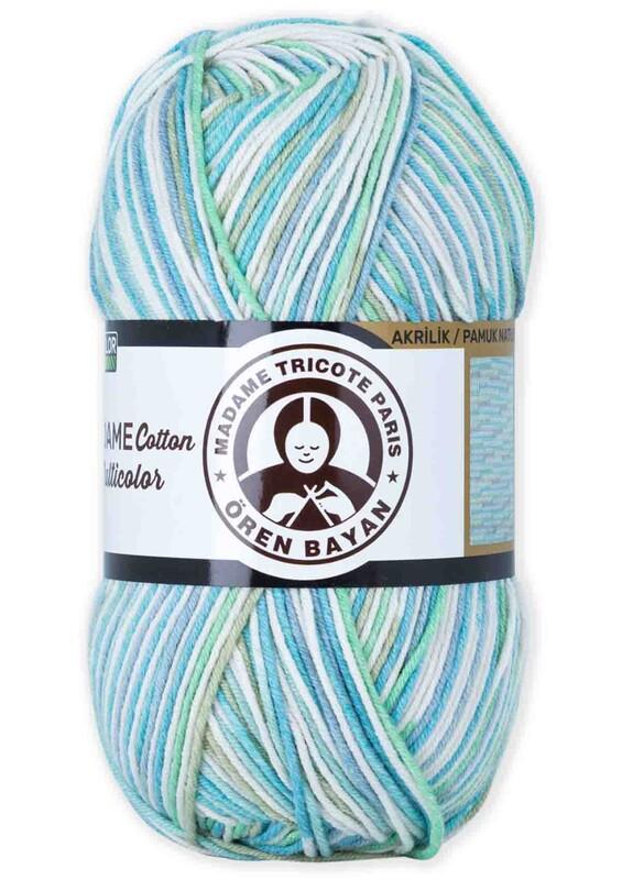 ÖREN BAYAN - Ören Bayan Madame Cotton Multicolor El Örgü İpi 100 gr | 442