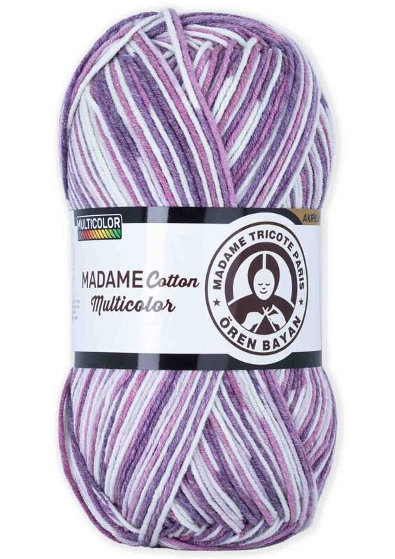 ÖREN BAYAN - Ören Bayan Madame Cotton Multicolor El Örgü İpi 100 gr | 444
