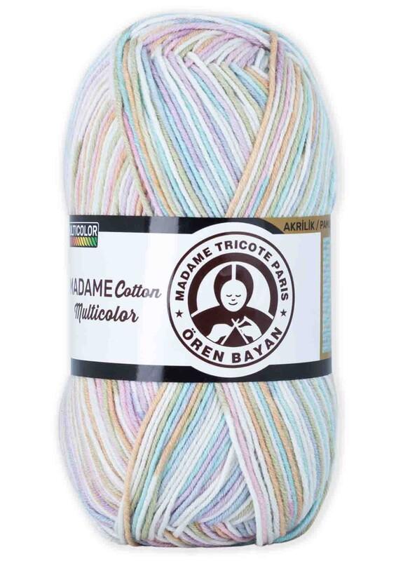 ÖREN BAYAN - Ören Bayan Madame Cotton Multicolor El Örgü İpi 100 gr | 447
