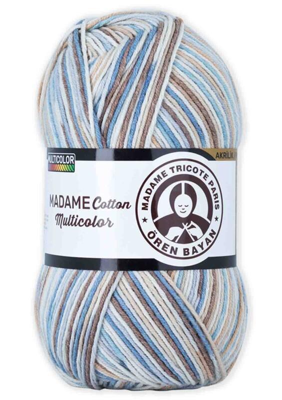 ÖREN BAYAN - Ören Bayan Madame Cotton Multicolor El Örgü İpi 100 gr | 448