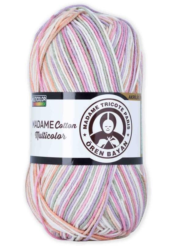 ÖREN BAYAN - Ören Bayan Madame Cotton Multicolor El Örgü İpi 100 gr | 451