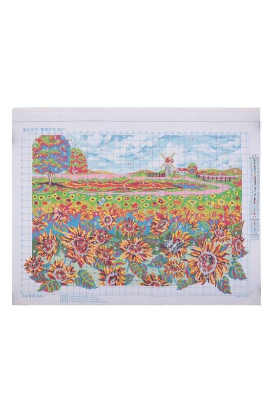 SİMİSSO - Ayçiçeği Baskılı Goblen Seti 0684 92x66
